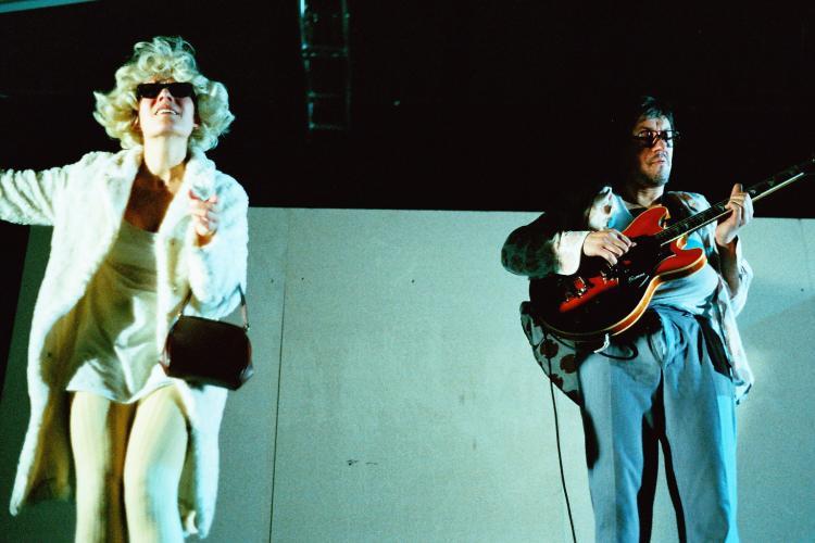 Theaterfoto mit Horst Heiss: Die Aufschreiberin