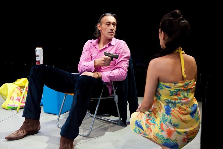 Theaterfoto mit Horst Heiss: Rashomon was wirklich war nach Akira Kurusawa